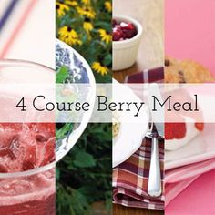 Four course meal using berries.