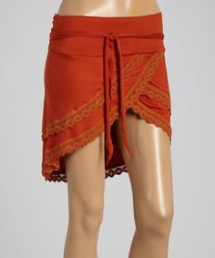 Take a look at this Orange Scalloped Tulip Skirt on zulily today!