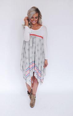 Dottie Couture Boutique - Printed Long Tunic , $49.00 (http://www.dottiecouture.com/printed-long-tunic/)