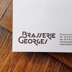 New visual identity for brasserie georges à lyon par Superscript2 #lettering #WIP