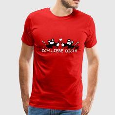 Ich liebe dich I love you shirt German Mice Rats - Men's Premium T-Shirt