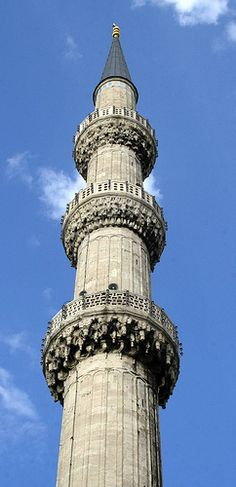 Minaret in the Blue Mosque, Istanbul