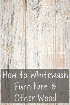 How to Whitewash Furniture & Other Wood @larisanilow7