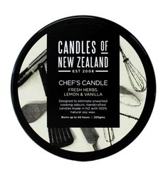 Chefs Cooking Candle with Lemon, Vanilla and Mixed Herbs | Shop New Zealand NZ$ 30.90