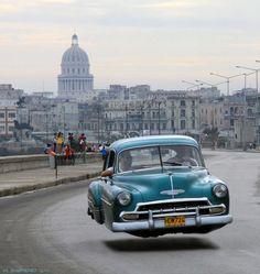 53 Chevy in Cuba's Malecon