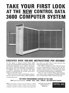 1963 control data corporation executes over 500000 instructions per second