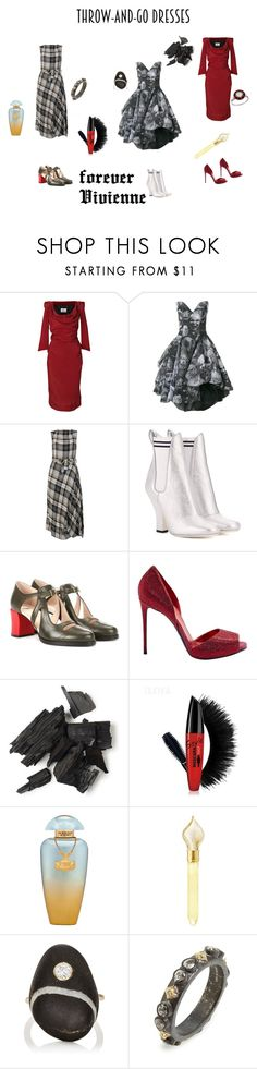 """""""throw and go dresses"""" by susibonvi ❤ liked on Polyvore featuring Vivienne Westwood, Fendi, Le Silla, The Merchant Of Venice, CVC Stones and Armenta"""