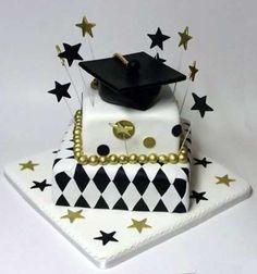 decoracion de pasteles para fiestas de graduacion