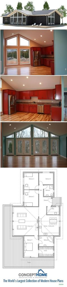 Small House Plan, Floor Plan from #modern house design #home designs| http://home-design-collections.lemoncoin.org