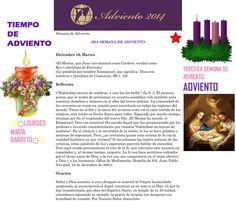 ORACIÓN. Diciembre 16º, MARTES 2014. 3RA SEMANA DE ADVIENTO ҉҉LOURDES MARÍA BARRETO҉҉