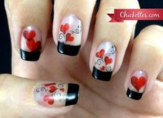 Valentine nail art Make sure to check out http://www.thepolishobsessed.com for nail art, tutorials, giveaways and more!