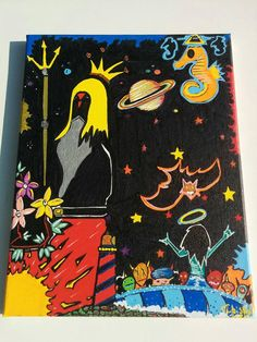 Neptune's Cauldron 11x14 Canvas Acrylic Trippy Dreamy by LunasNook