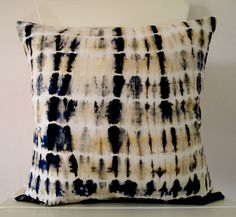 Decorative Throw Pillow Cover - Hunter Green - Unique Abstract Pattern - Hand Dyed Fabric - 14 x 14 - Batik - Tie Dye - Shibori. $29.00, via Etsy.