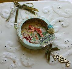 In My Blue Room: More Brie Box Altered Art- Soulac Du Mer