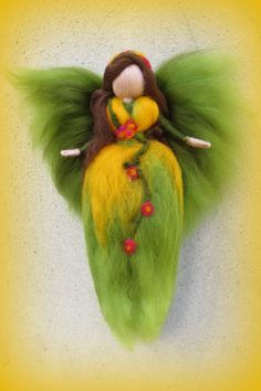 Items similar to Christmas tree topper Needle felted Waldorf inspired Ornament Flower Fairy Lily of the valley Felted topper Felted doll on Etsy Christmas Fairy, Christmas Tree Toppers, Xmas Tree, Eyes Nose, Heavy Metal, Felt Angel, Felt Mobile, Needle Felting Tutorials, Felt Fairy