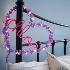Heart Decorations, Light Decorations, Lighted Wreaths, Kids Lighting, Lighting Ideas, Valentines Gifts For Him, Heart Frame, Led String Lights, Friendship Gifts
