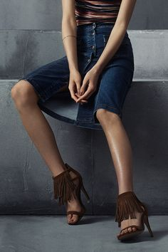 Fringing with a sophisticated spin - our Tan Leather Fringe Heels. #newlook #shoes
