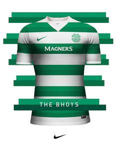 Club jersey design - Nike on Behance Football Icon, Football Kits, Football Jerseys, Soccer Uniforms, Soccer Shirts, Soccer Logo, Sports Logo, Old Firm, Sports Jersey Design