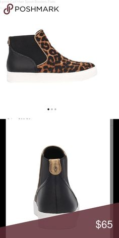 Margot Leopard-print Calf Hair Sport Booties Flats New in box!! A streetwise style in exotic leopard-print calf hair. Calf hair upper. Round toe. Elastic side goring. Synthetic lining and sole. Fur type: dyed calf hair.    Size 7.5 Sam Edelman Shoes