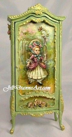 Little Bo Peep portrait armoire by JillDianne. oh my gosh, this is gorgeous!
