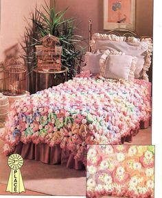 Crochet Bedspread   Rainbow Of Butterflies Crochet Pattern Bedspread Blanket Throw Home ...
