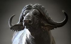 cape buffalo sculptures bronze - Google Search