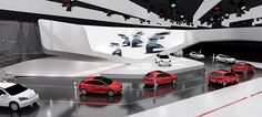 Edges and corners roundoff the lookThe principle behind the architectural concept is: powerful not overpowering.The Chery Passenger Car stand is distinctive for its character and modern mix ofmaterials: a succinct brand space that makes an ideal plat…