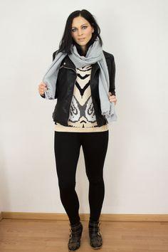 www.kleidermaedchen.de - Let's talk about Wildcat #kleidermaedchen #fall #autumn #herbst #fashion #mode #blog #blogger #fashionblog #look #hm #zara #vila #leggings #boots #scarf #sweater #pullover #jacket #leatherjacket
