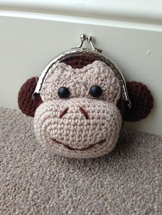 Ravelry: Monkey Coin Purse pattern by Laura Sutcliffe Crochet Wallet, Crochet Coin Purse, Crochet Purses, Crochet Gifts, Coin Purse Pattern, Purse Patterns, Knitting Patterns, Crochet Patterns, Crochet Change Purse