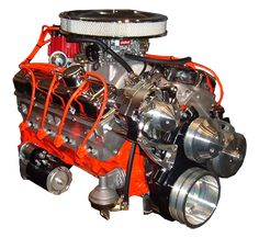 350 Chevy Hot Rod Engines With 375HP. Fits under stock Corvette hood.