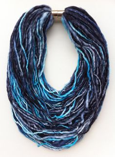 This is exactly what I want to make with my first hand spun yarn!  I just need to find that clasp.