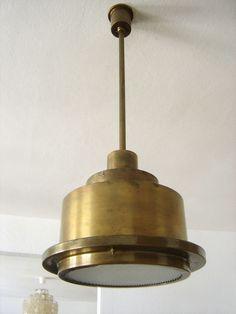 RARE Modernist BAUHAUS ArtDeco PENDANT LAMP CEILING LIGHT Dell KAISER Kandem ERA