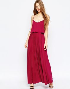 ASOS+Pleated+Maxi+with+Crop+Top