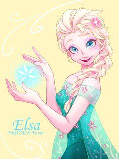 Elsa, her face is so cute! Frozen Art, Frozen Movie, Frozen Elsa And Anna, Disney Frozen, Elsa Anna, Film Disney, Arte Disney, Disney Art, Freezing Anime