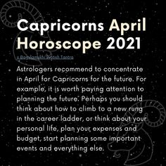First of all, astrologers recommend that representatives of the Capricorn zodiac sign do not try to fight the dynamism and hecticness of April. Your attempts to fight all of the above will not lead to anything good, and moreover, your struggle only risks exacerbating the problem. Better just live and go with the flow, and then you yourself will not notice how the situation begins to stabilize and normalize...[...] #capricorn2021 #capricornhoroscope #capricornzodiac #horoscope2021 #zodiacsign Crazy Life Quotes, April Horoscope, Zodiac Capricorn, Tantra, Zodiac Signs, Astrology, Flow, Thinking Of You, How To Plan