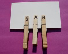 """Use pegs to spell names ("""",)"""