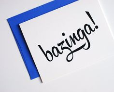 Bazinga Card - Neon Purple - Congrats Card - Just Because - Funny Card