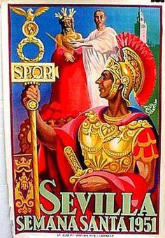 DP Vintage Posters - Spain Original Vintage Travel Poster Sevilla holy week