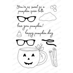 Impression Obsession Clear Stamp PUMPKIN CUP CL778