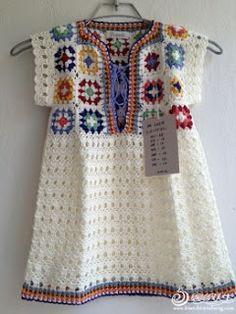 Crochet Easy Granny Square Tunic - Sharing a Free Chart and Idea