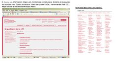 mapa web de las bibliotecas universitarias de Salamanca y de Barcelona (Pompeu Fabra)