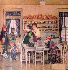 Getting Ready For School - John Philip Falter (1910 – 1982, American)