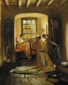 A Peaceful Art,  John Henry Lorimer. Scottish (1856 - 1936)