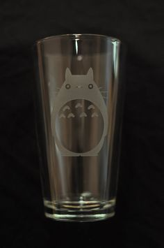 Totoro pint glass. I do believe an Asahi Black would fit this little guy PERFECTLY