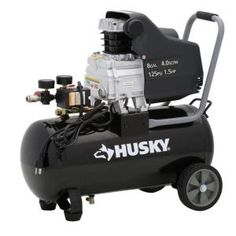 homedepot husky 8gallon portable electric air compressor 74 free store pickup home