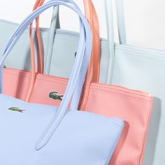 Bags by Lacoste. Colors perfect for summer - miamipool collection