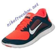 4b79249e3bdf Nike Free 4.0 V3 Mens Midnight Turquoise White Crimson 579958 318