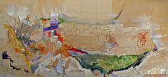 old maps reborn into cartographic dreamscapes