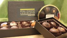 Wine Country Chocolates from the mother-daughter chocolatier team of Betty and Caroline Kelly (Glen Ellen, CA)