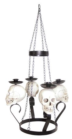 Skull Chandelier - Black Cat Costumes & Novelties